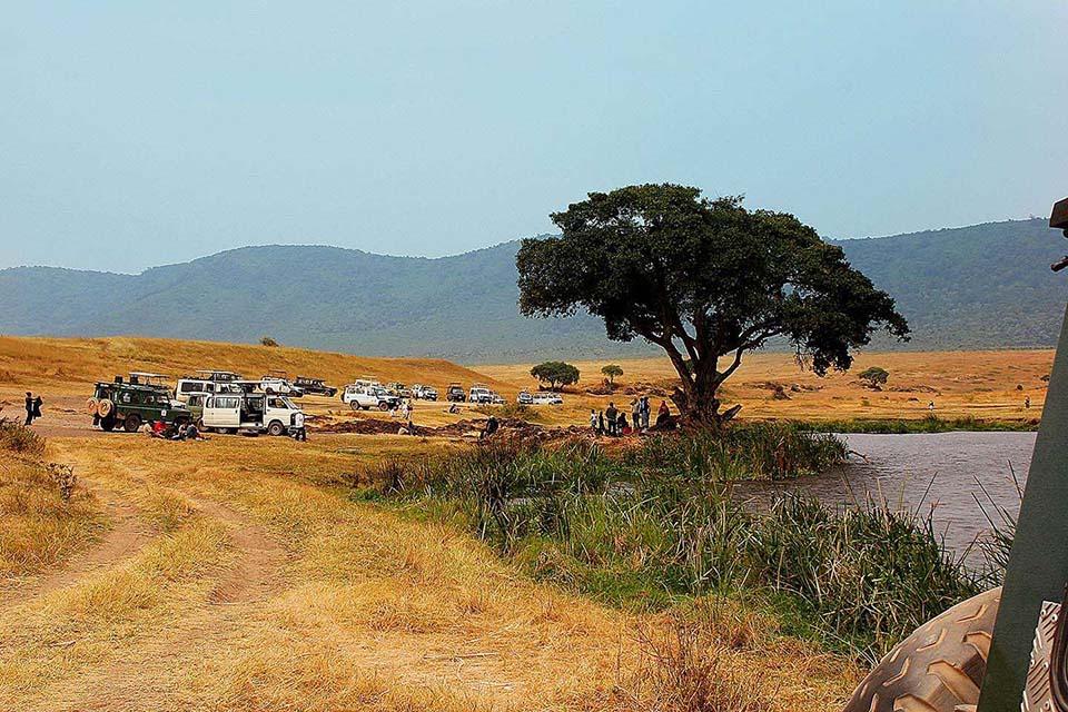 Nachteile einer Touristenattraktion, Ngorongoro Krater