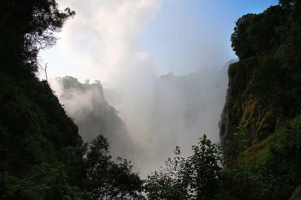 Viktoriafälle, Simbabweseite