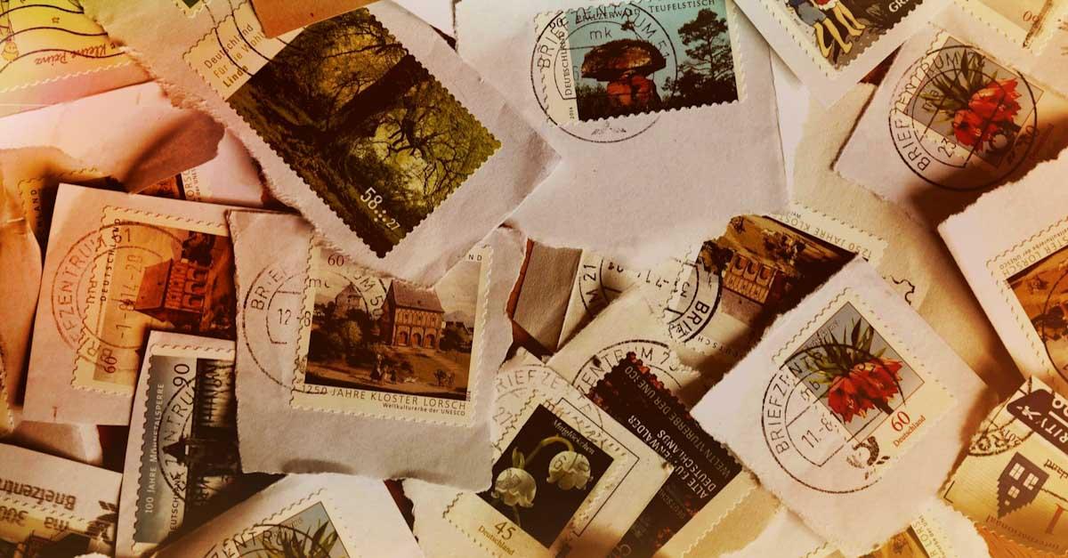 Briefmarken, platzsparende Mitbringsel