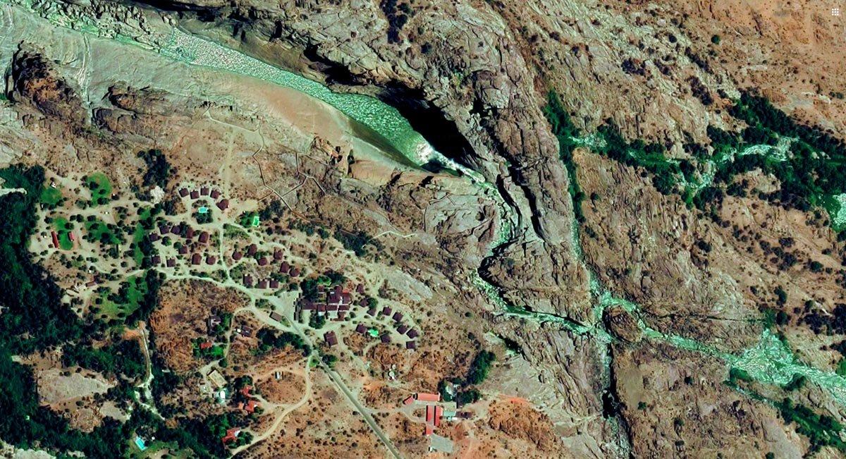 Anreise - Augrabies Falls NP von oben