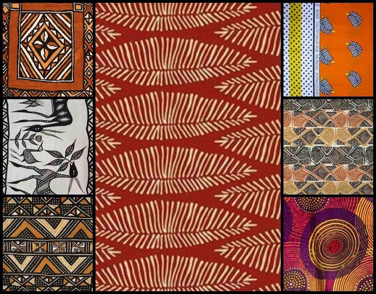 Kolonialstil, afrikanische Stoffmuster