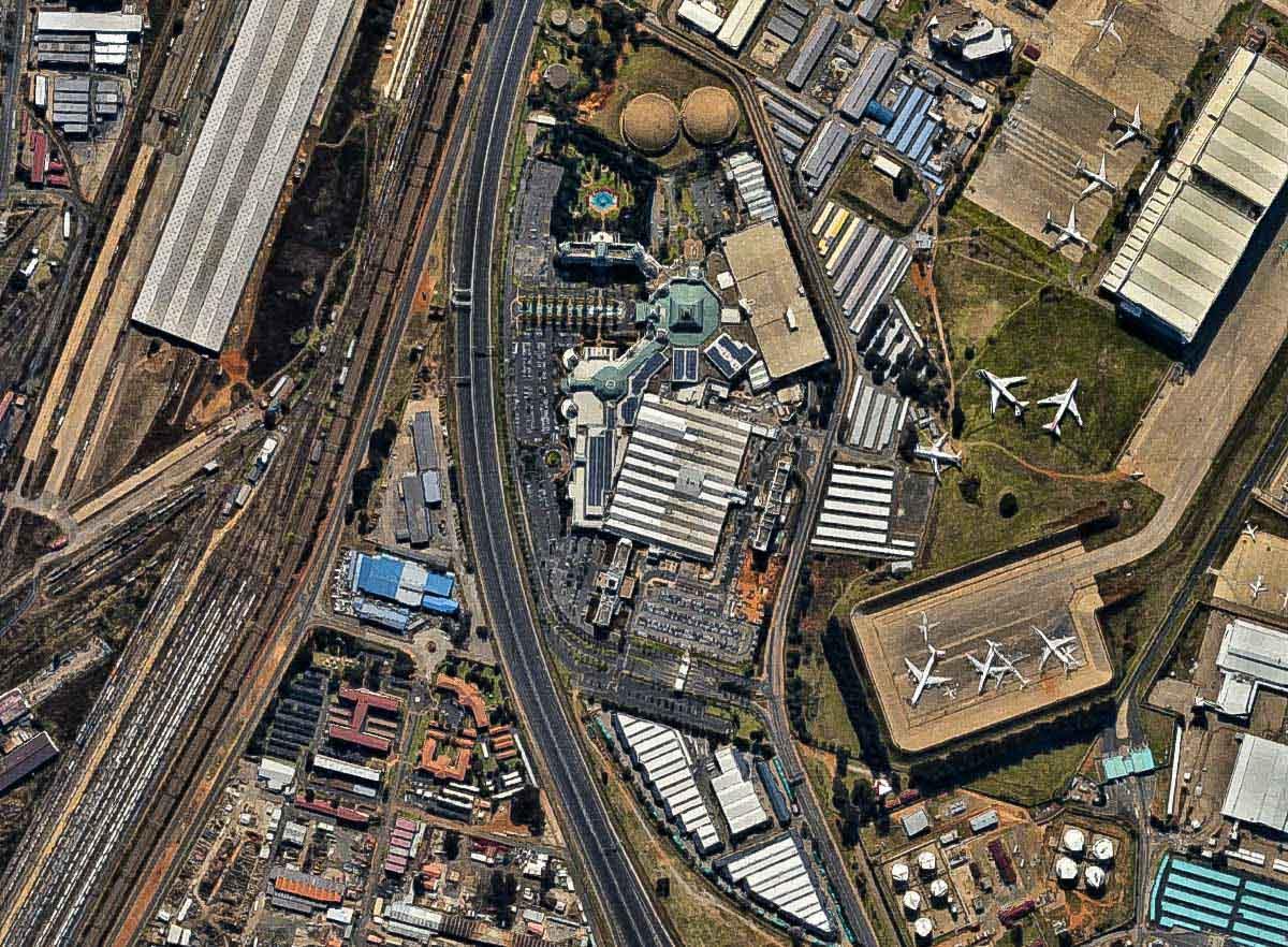 Anreise 2017: Anflug auf Johannesburg