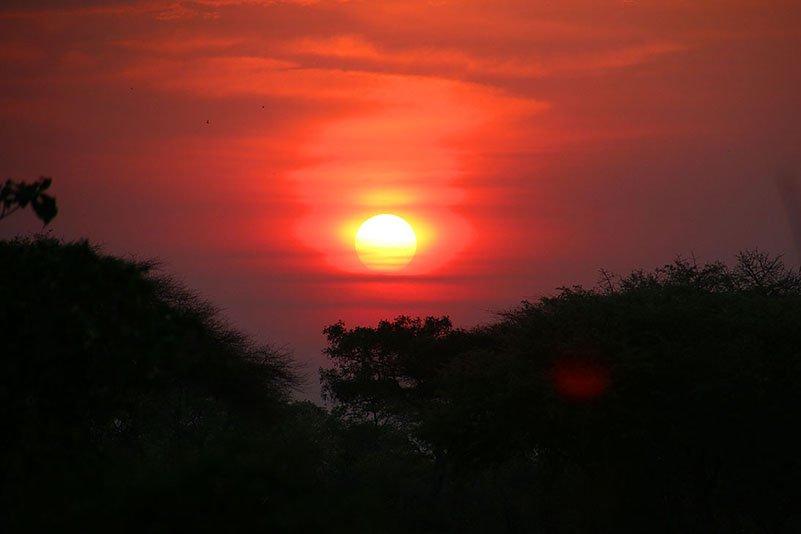 Sonnenaufgang im Katavi