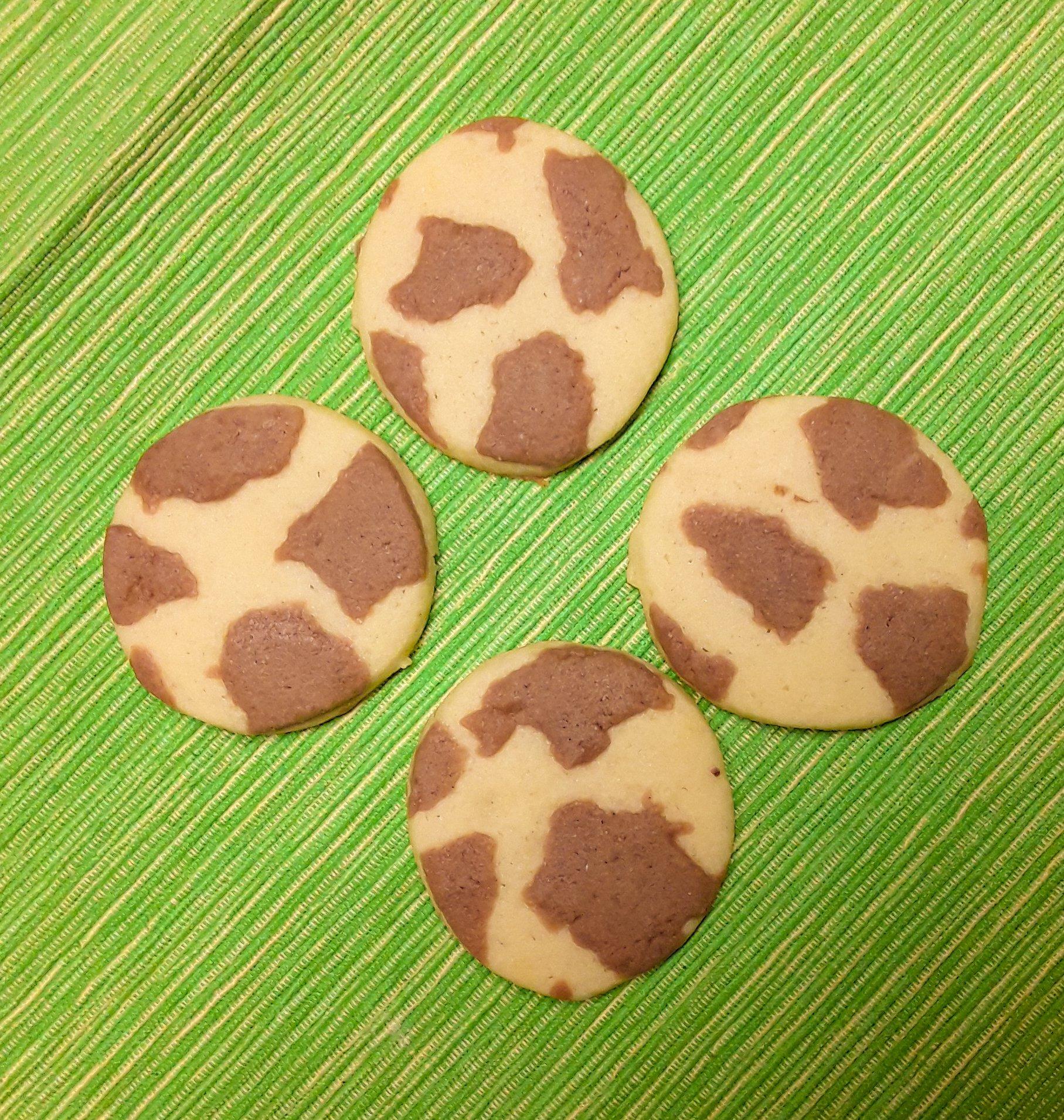 Giraffen-Kekse, neuer Versuch, Giraffenmuster